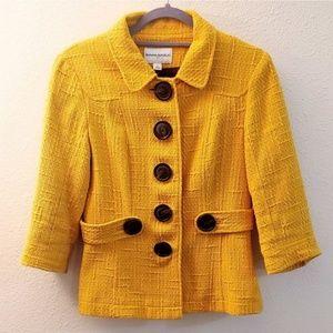 90s style yellow banana republic blazer